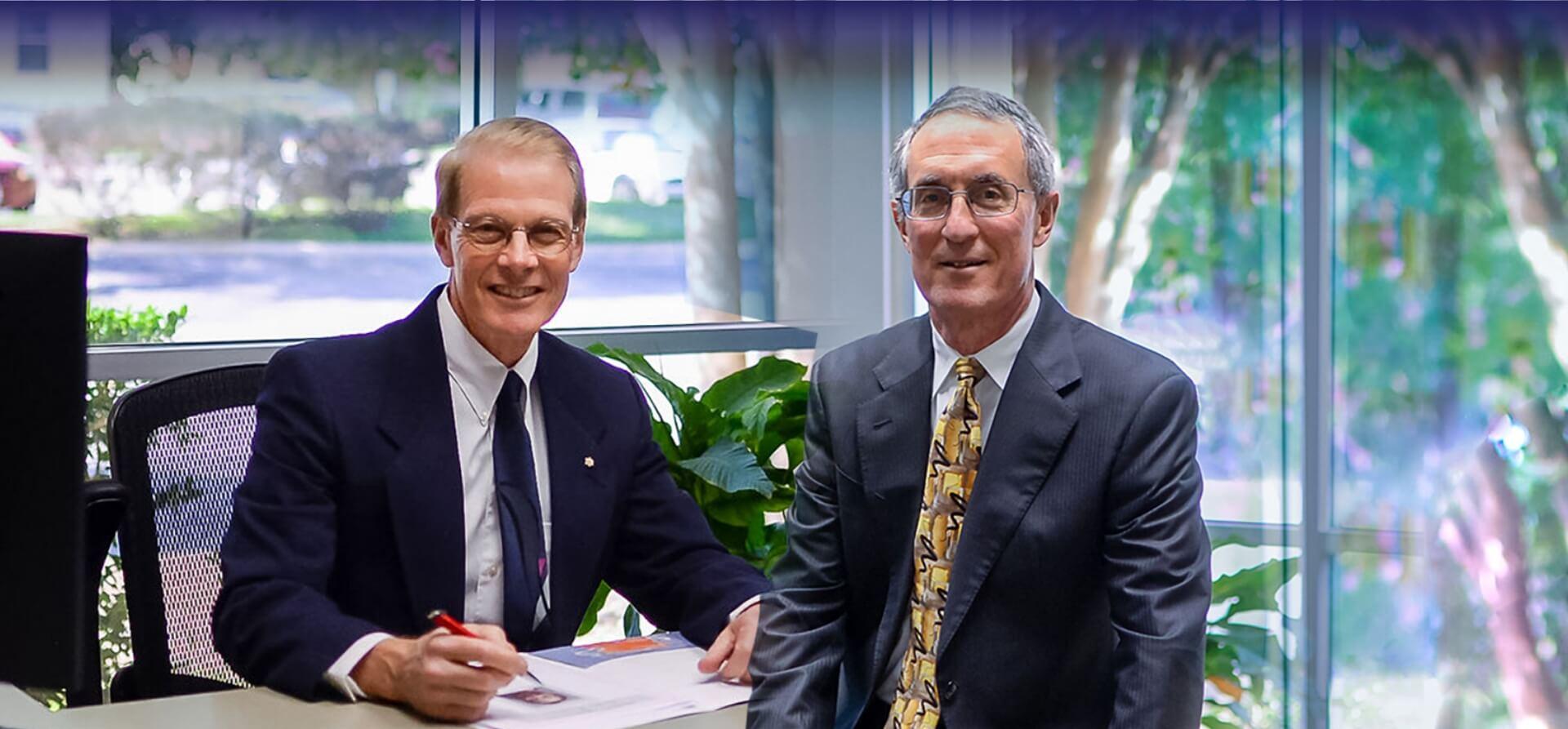 Dr. Rick Davis and Dr. Rick Schwartz