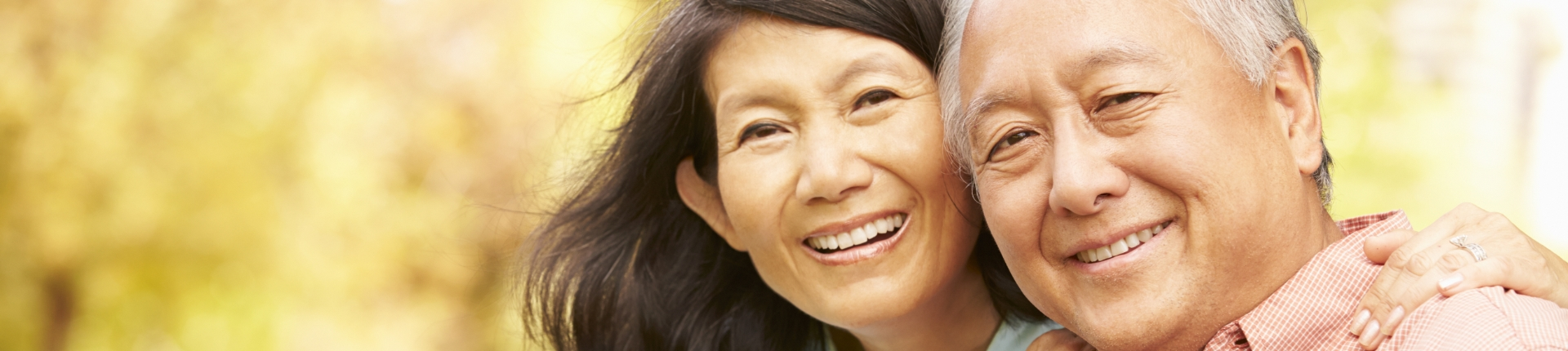 Happy elderly couple after having root canal treatment